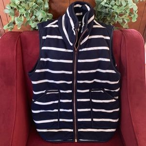 Navy striped vest - small